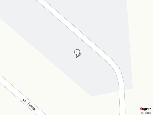 Автостоянка на ул. Тукая на карте Нижнекамска