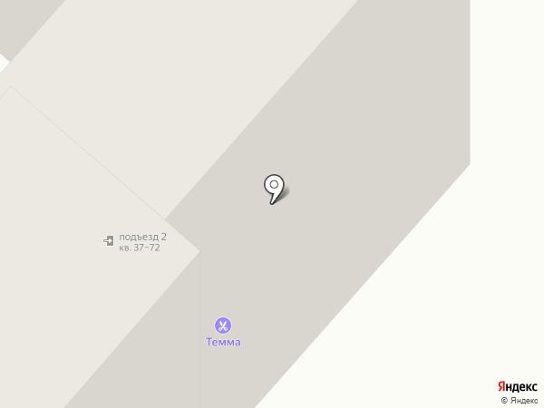 Темма на карте Нижнекамска