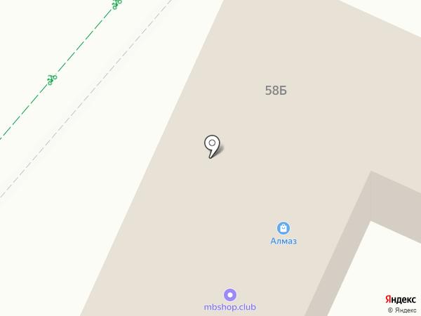 Шиномонтажная мастерская на карте Нижнекамска