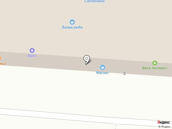Магазин выпечки на карте Нижнекамска