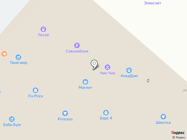 Аптека от склада на карте Нижнекамска