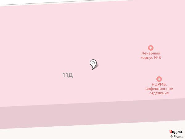 Нижнекамская центральная районная многопрофильная больница на карте Нижнекамска