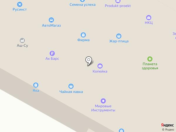 Колорит на карте Нижнекамска