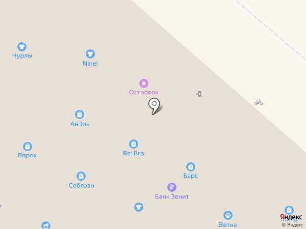 Каблучок на карте Нижнекамска
