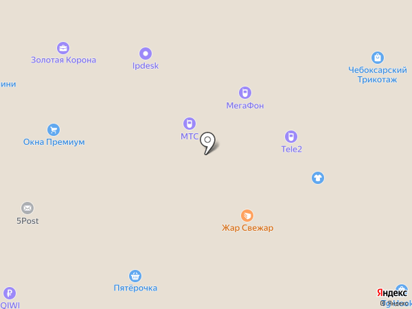 Пятёрочка+ на карте Нижнекамска
