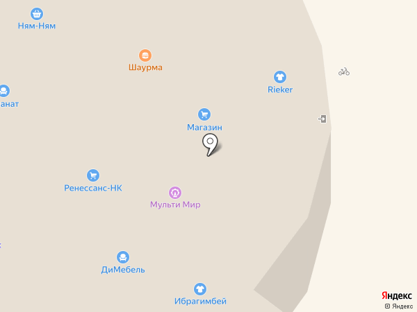 Максавит на карте Нижнекамска