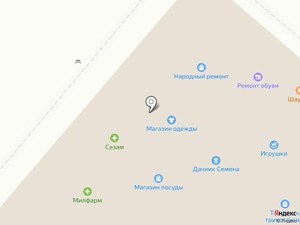 Дачник на карте Нижнекамска