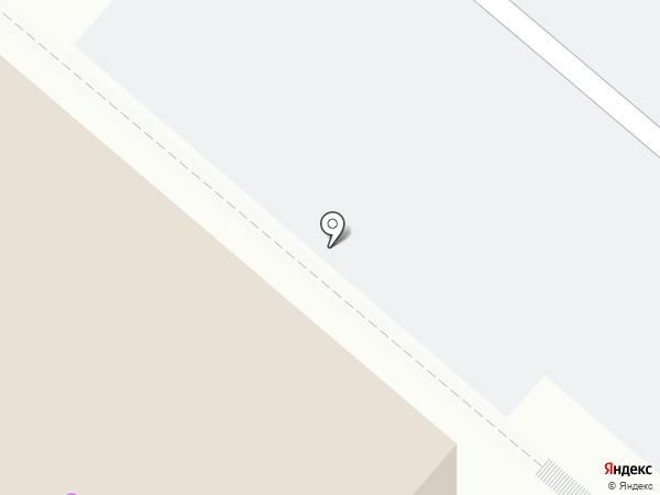 Автостоянка на ул. Бызова на карте Нижнекамска