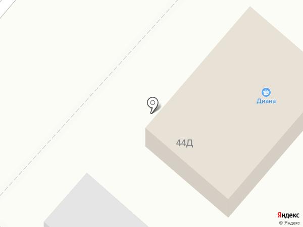 Диана на карте Нижнекамска