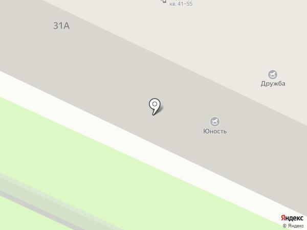 Юность на карте Нижнекамска