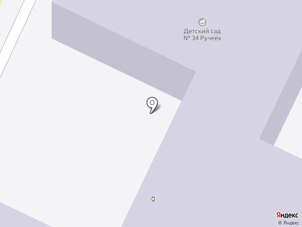 Детский сад №34, Ручеек на карте Нижнекамска