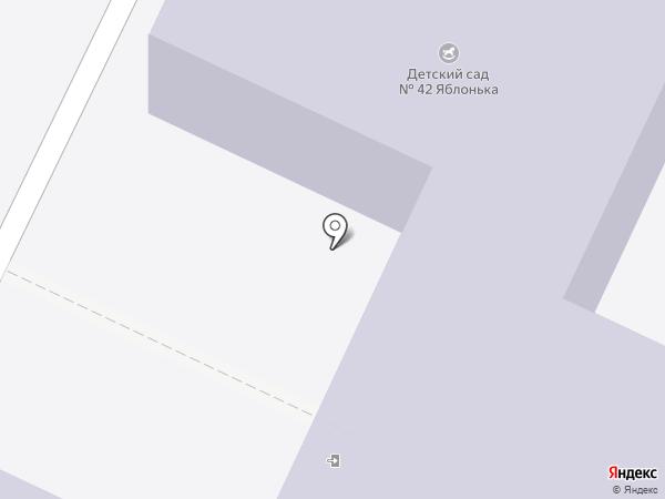 Детский сад №42, Яблонька на карте Нижнекамска
