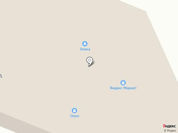 Элика на карте Елабуги