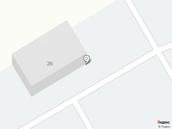 Автостоянка на Молодёжной на карте Елабуги