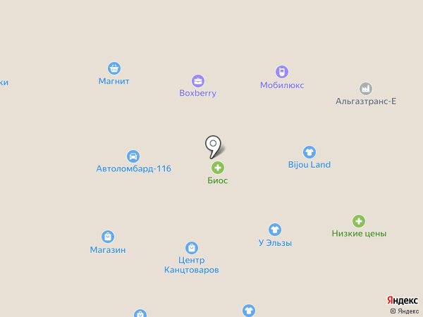 Меридиан на карте Елабуги