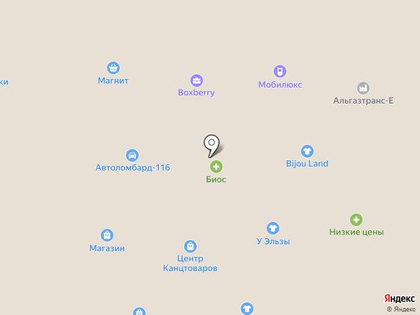 Солнышко на карте Елабуги