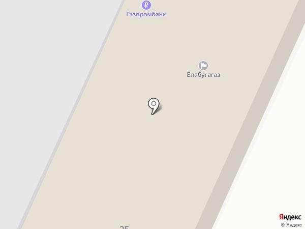 ЕлабугаГаз на карте Елабуги