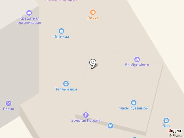 Доступное жилье-автомобиль на карте Елабуги