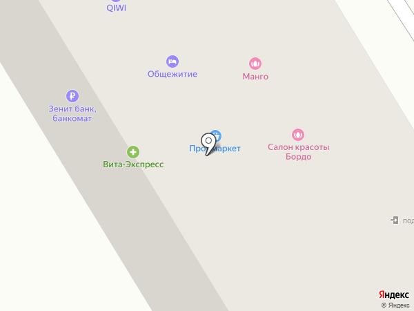 Силуэт на карте Елабуги
