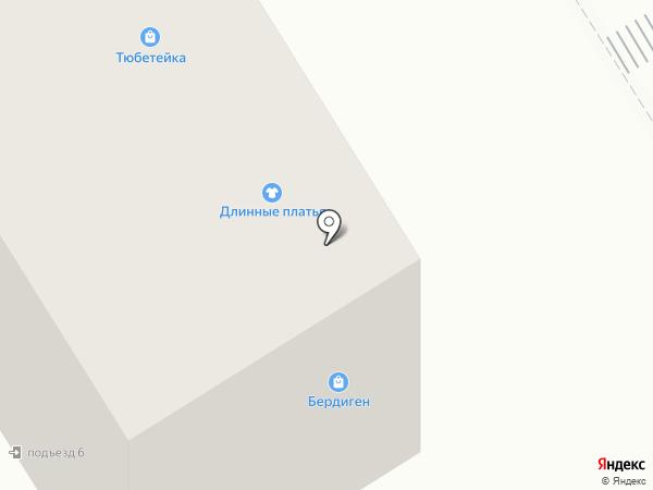 Тюбетейка на карте Елабуги