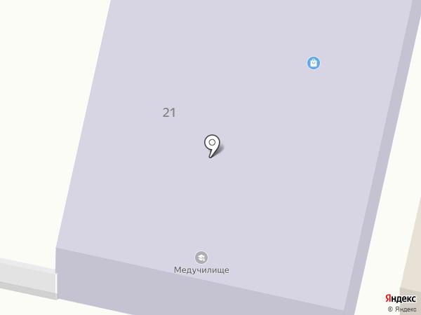 Елабужское медицинское училище на карте Елабуги