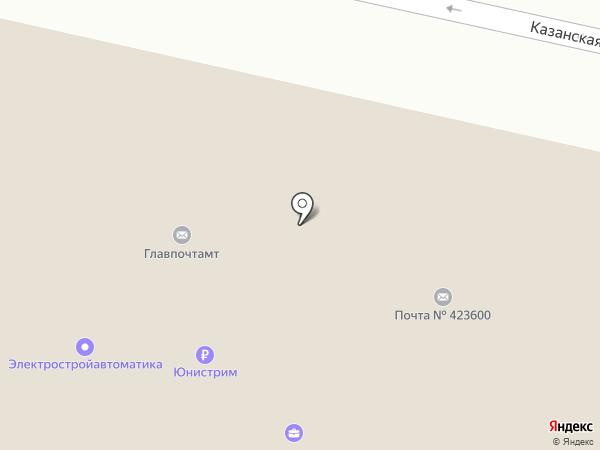 Елабужский межрайонный почтамт на карте Елабуги