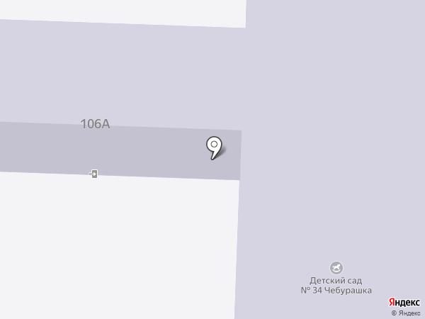 Детский сад №34, Чебурашка на карте Альметьевска