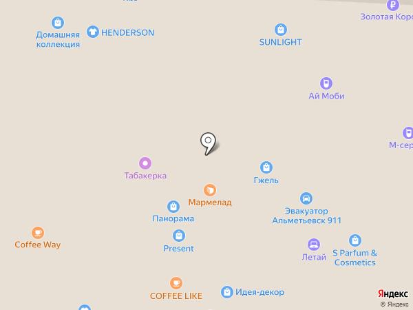 Магазин женского белья на карте Альметьевска