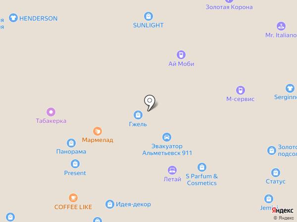 Гжель на карте Альметьевска