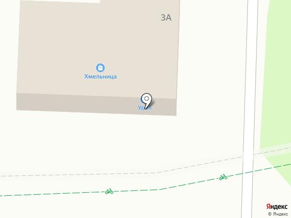 Магазин разливного пива на карте Альметьевска