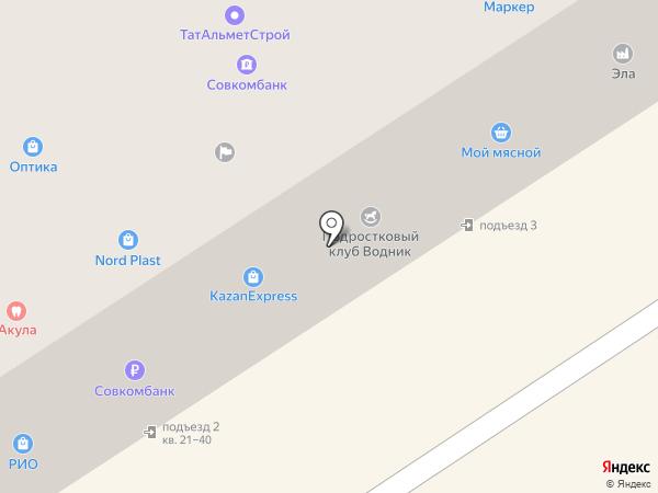 Альметьевская зональная жилищная инспекция на карте Альметьевска