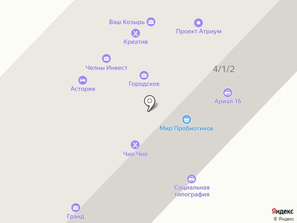 Ратибор на карте Набережных Челнов