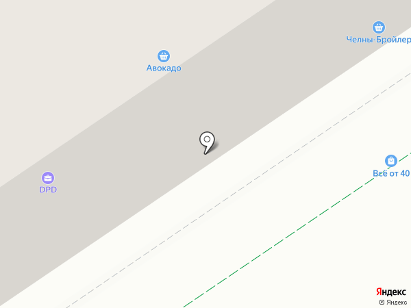 Мясная лавка на ул. Белоглазова на карте Альметьевска