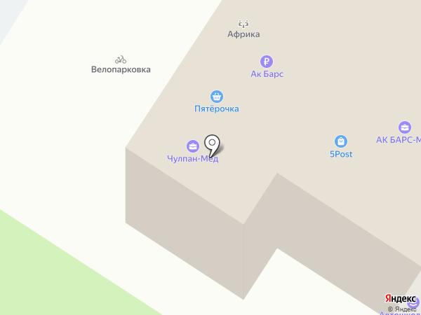 Автошкола Кама, ЧПОУ на карте Набережных Челнов