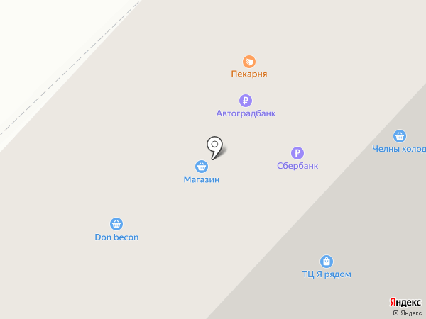 Замелекесье на карте Набережных Челнов