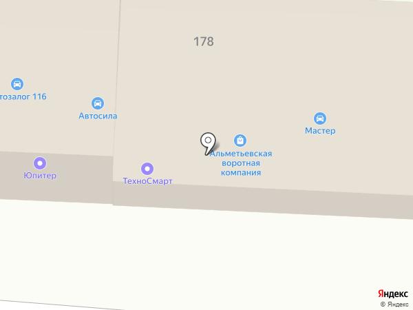 Карт, ЗАО на карте Альметьевска