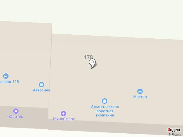 Стрелок на карте Альметьевска
