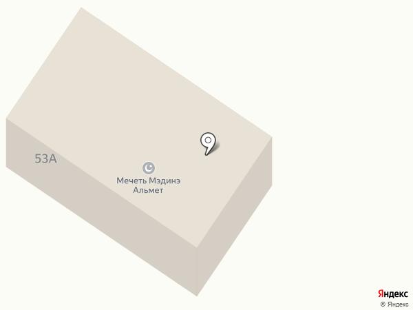 Мэдинэ на карте Альметьевска