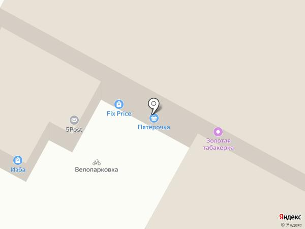 Изба на карте Набережных Челнов