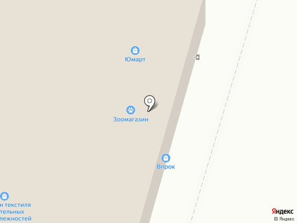 Магазин текстиля и постельных принадлежностей на карте Набережных Челнов