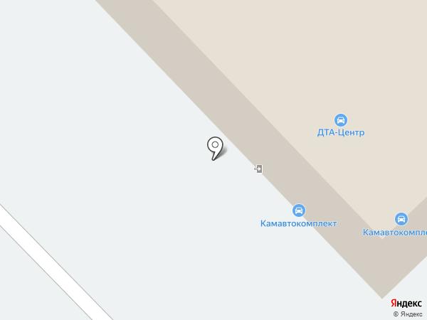 Камавтокомплект-Вэн на карте Набережных Челнов