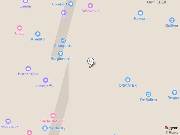 Табакерка на карте Набережных Челнов