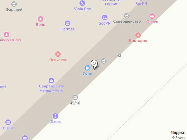 Вектор на карте Набережных Челнов