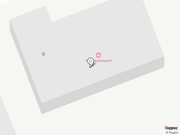 Новотроицк на карте Новотроицкого