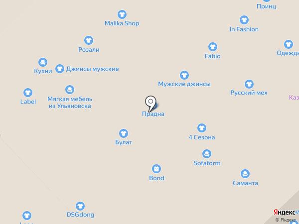 Салон мебели на карте Набережных Челнов