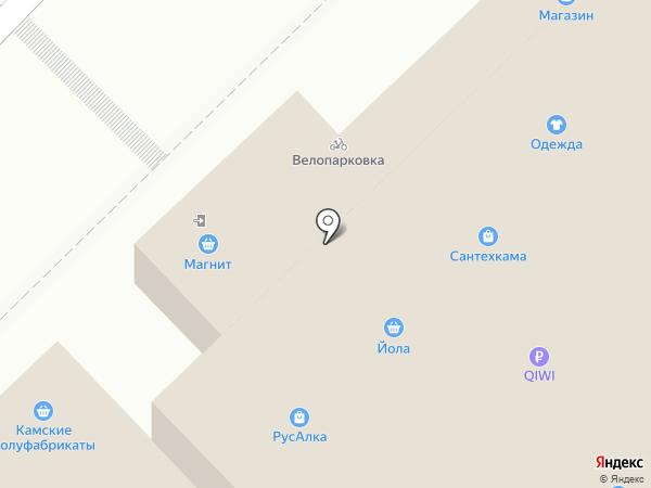 Магазин женского белья на карте Набережных Челнов