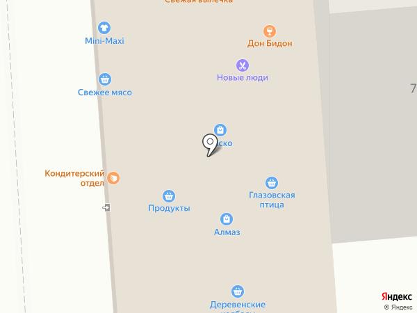 Восточный на карте Ижевска