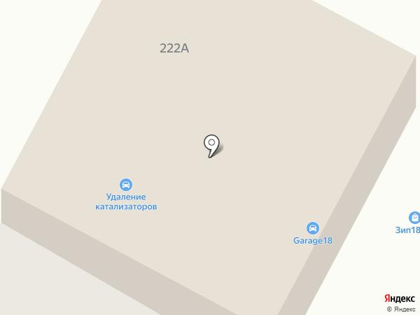 Гараж на карте Ижевска
