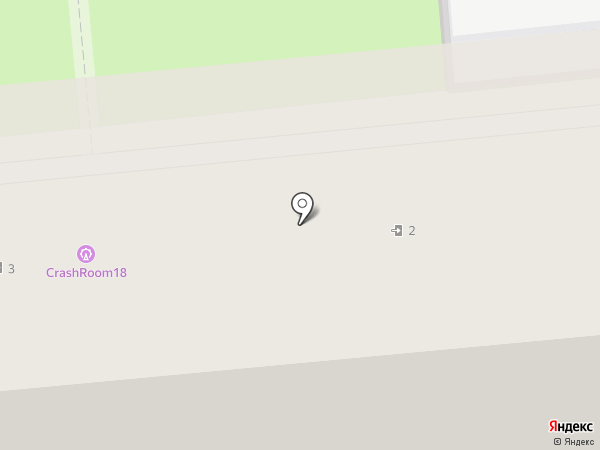 Шеврон на карте Ижевска