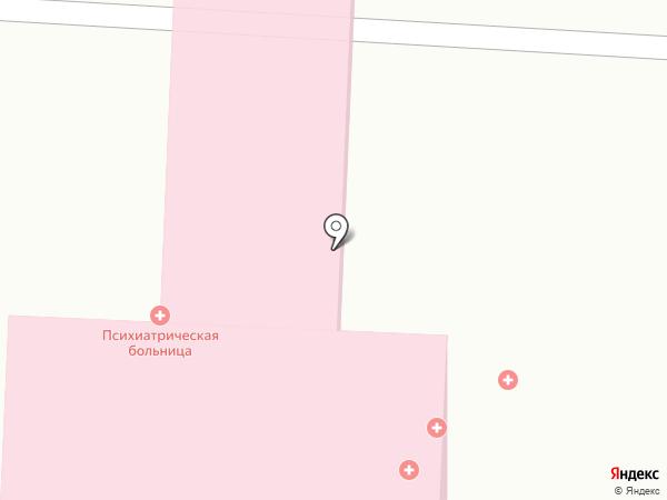 Республиканская клиническая психиатрическая больница на карте Ижевска